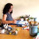 Agnès Mateu trabajando